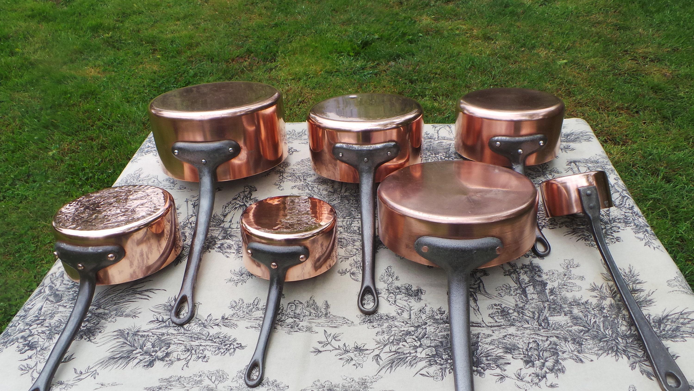 Chef S Set Five Pans Saute Bonus Brandy Pan Vintage