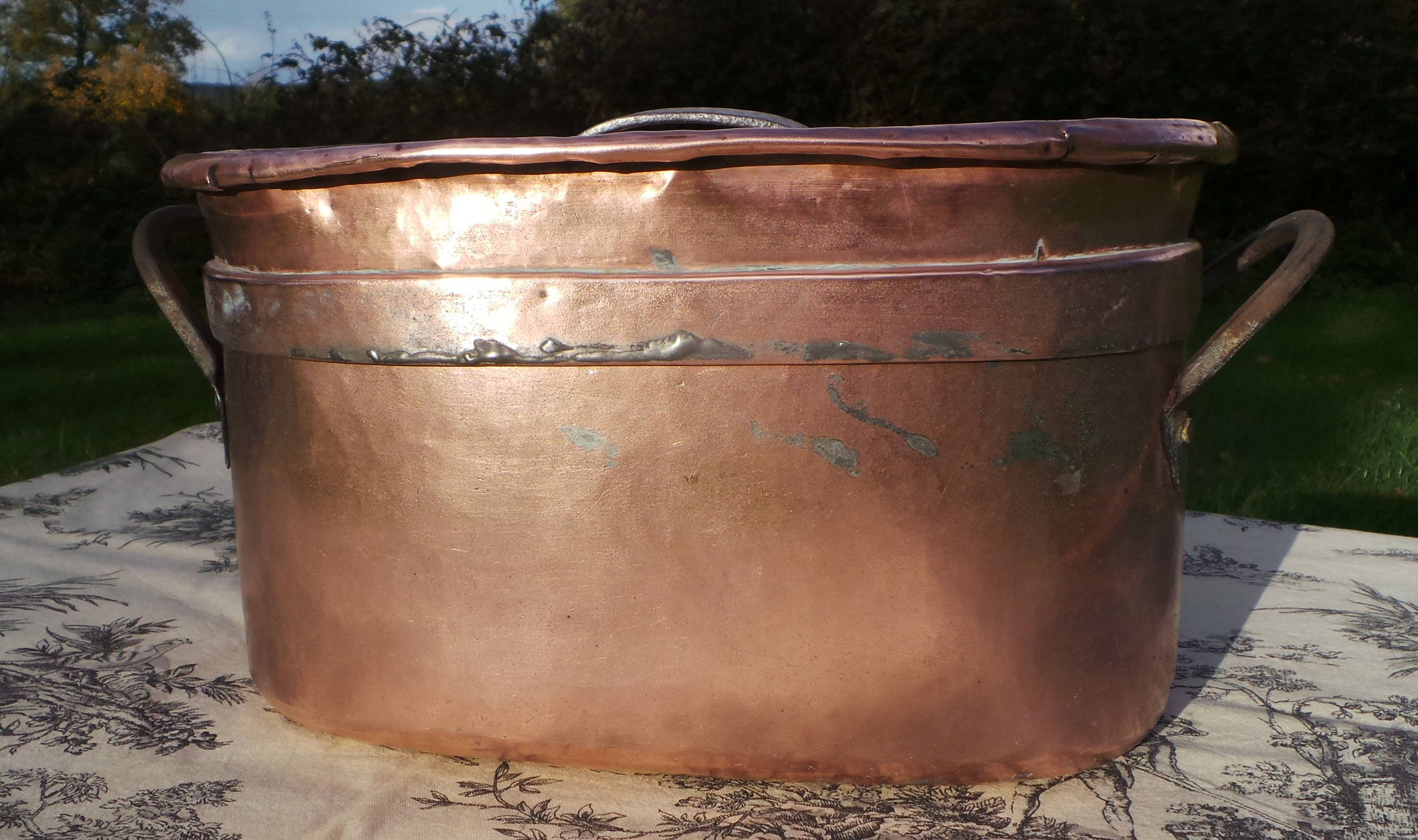 Copper Pot Daubiere Braisiere Stock Pot Copper Roasting