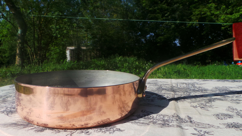 Copper Saute Pan Good Dark Tin Lining Copper Pot French