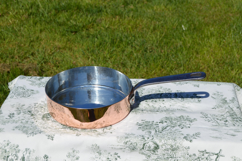 VILLEDIEU Copper Saute Pan 1.7MM GUARANTI VILLEDIEU 1.7MM Original French Vintage Lovely French Copper Saute Pan
