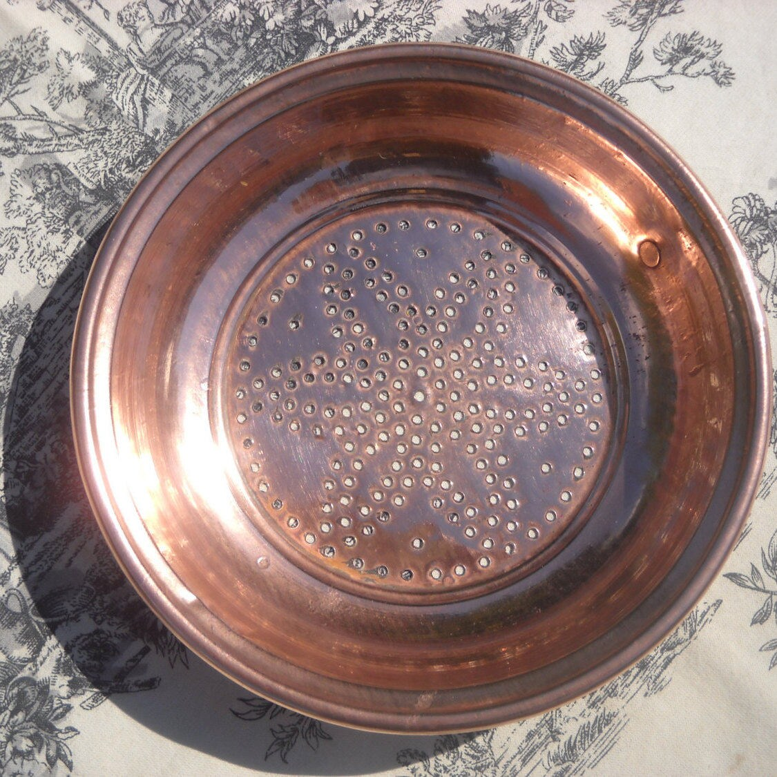 Jam Sieve Copper Vintage French Sieve Copper Pan Jam Fruit Colander Sieve With Cast Iron Ring