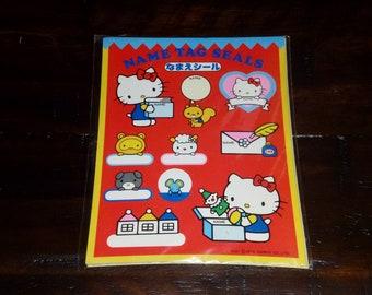 7079073cc Sanrio 1976 Vintage Hello Kitty Name Tag Seals 2 Sheets NIP