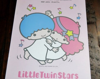 Vintage Sanrio 1983 Little Twin Stars Kiki and Lala Party Decorations Package