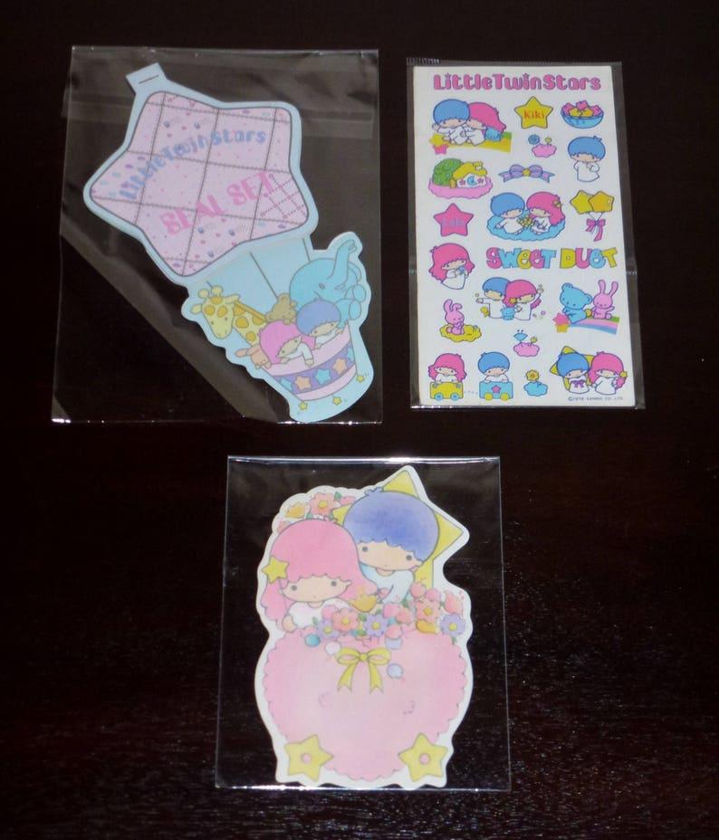 Vintage  1980/'s Sanrio Little Twin Stars  Stickers Seals