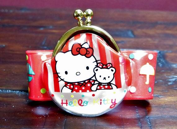 0a13bec50 Vintage Sanrio 1992 Hello Kitty Kiss Lock Vinyl Coin Purse | Etsy