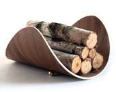 Firewood Holder | Firewood Rack | Modern Log Holder | Handcrafted Bent Plywood