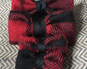 Red and Black Dog Bow Ties