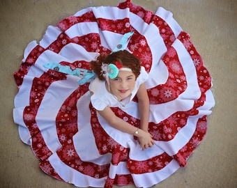 Peppermint Swirl Dress PDF Pattern 6m - 10y