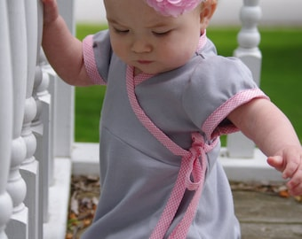 The Bubblegum Dress PDF sewing pattern - newborn - 14y - Wrap dress knit & woven