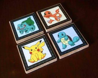 Pokemon Magnets (set of 4)
