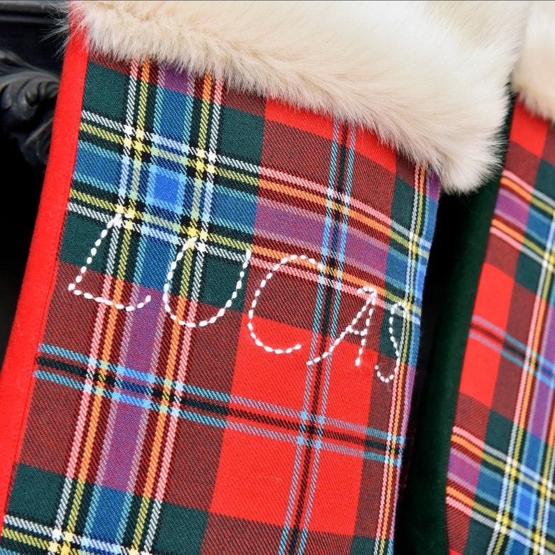 Luxury Tartan Christmas Stocking