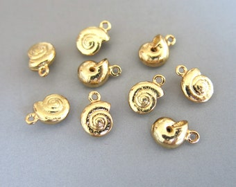 8pc Snail Connector Charms Cubic Zirconia Tarnish Resistant Shiny Rhodium16k Gold Snail Charm Nature Inspired Enchanted Forest DESTASH