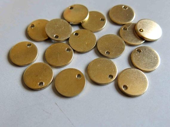 8x8mm 3860C-D-471 30 Pieces Raw Brass Stardust Flat Square Charm