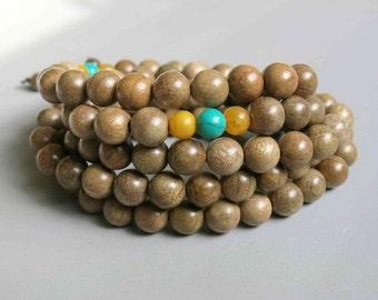 108pcs Silkwood Beads Prayer Beads Japa Mala 8mm - A457