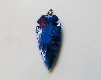 Arrowhead shape Natural Quartz Pendant  - B1566