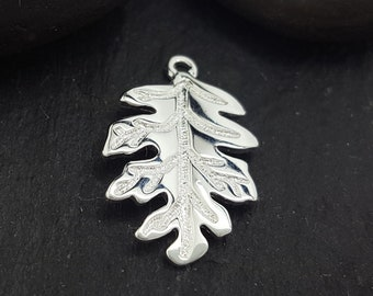 Charms Supply --- 50X55mm JHS843-LY362 6PCS or 15PCS Antique Silver LEAF Charm Pendant --- Inspiration Charms