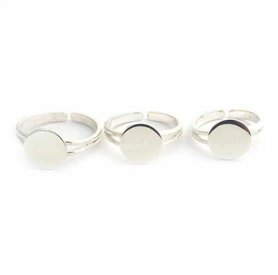 Sterling Silver Adjustable Ring Base Blank For Ring Maric Glos