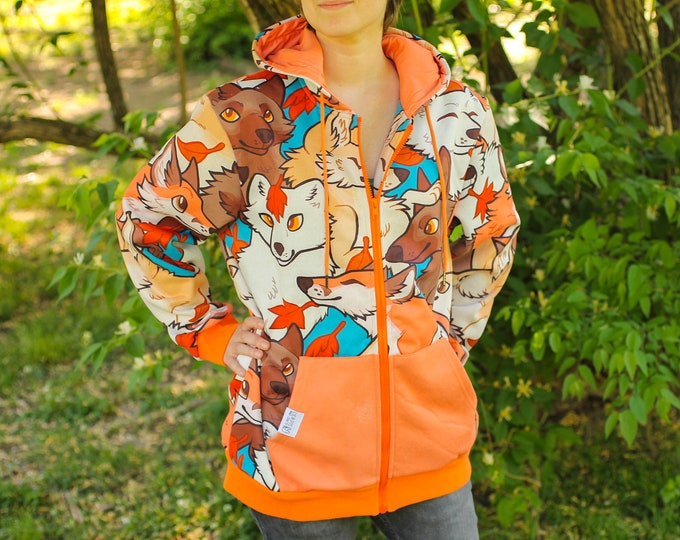 Featured listing image: All Over Patterned Fox Hoodie