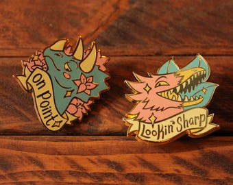 Dashing Dinosaurs - Hard Enamel Pins