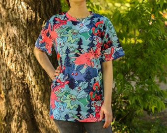 All Over Patterned Cryptozoology Tee Shirt