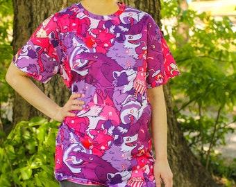 Partout à motifs urbains récupérateurs Tee Shirt