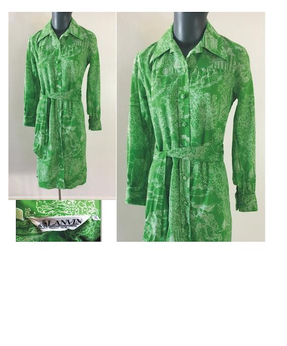1970s Lanvin Size 10 Bust 35 Shift Dress 3 Queens