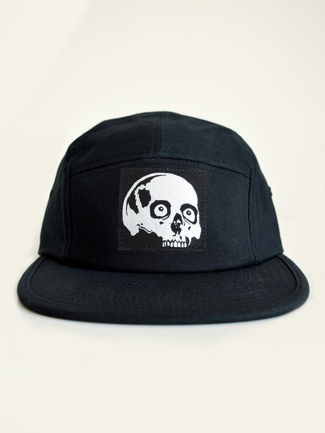 9a60637cf8f Snapback Skull Patch Baseball Cap Skull Print Dad Hat