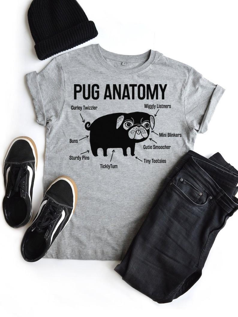The Pug Anatomy Pug Tshirt Is Here Based On The Latest Melange Grey