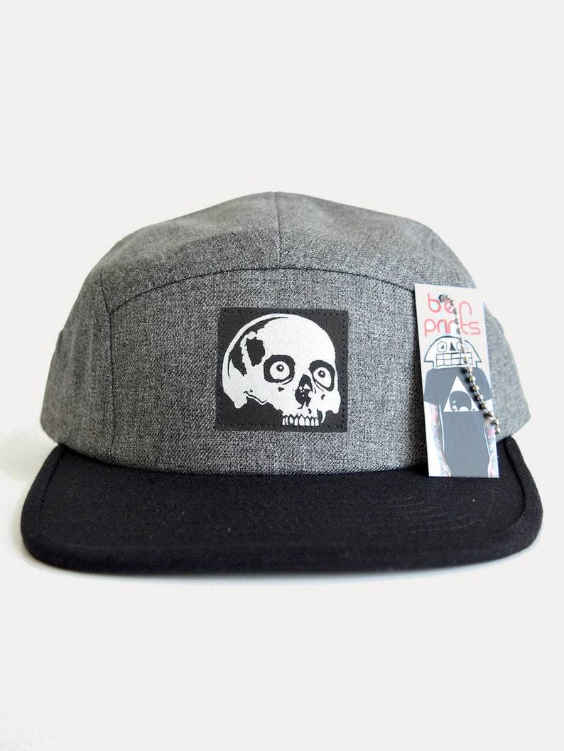 a9d97929ab5c1 Mens Skull Cap Mens Baseball Cap Five Panel Hat Five Panel