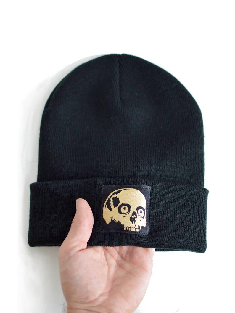 3e58de236cc Hat Beanie Unique Gift Skull Beanies Skulls Gold Skull Hats