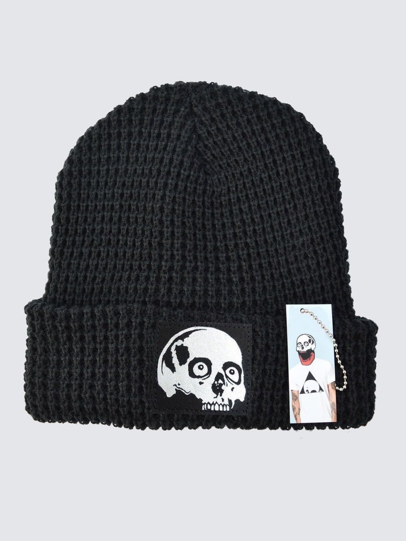 7bc40c73dbd Chunky Knit Beanie  Unisex Thick Beanie  Skull Patch Hats