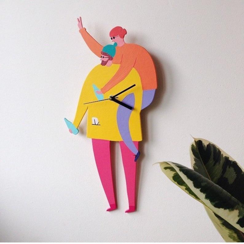 Custom Portrait Clock / Wall Hanging image 0