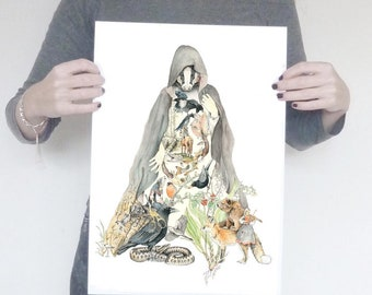 From the Darkest North A3 & A4- limited edition fine art print.