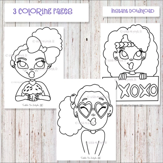 African American Coloring Sheets Coloring Sheets For Kids Etsy