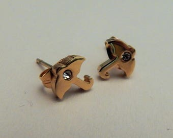 18k gold plated Surgical stainless steel 18k umbrella earrings