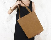 Vegan leather tote bag - shopper bag, market bag, big tote bag, fall fashion