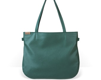 8ffe57cbc762a Pacco green bag shoulder bag faux leather crossbody bag vegan leather  oversized green handbag tote large bag with pockets with zipper gift