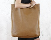 Shopping bag - Weekender bag - Travel bag Gift ideas Vegan leather tote
