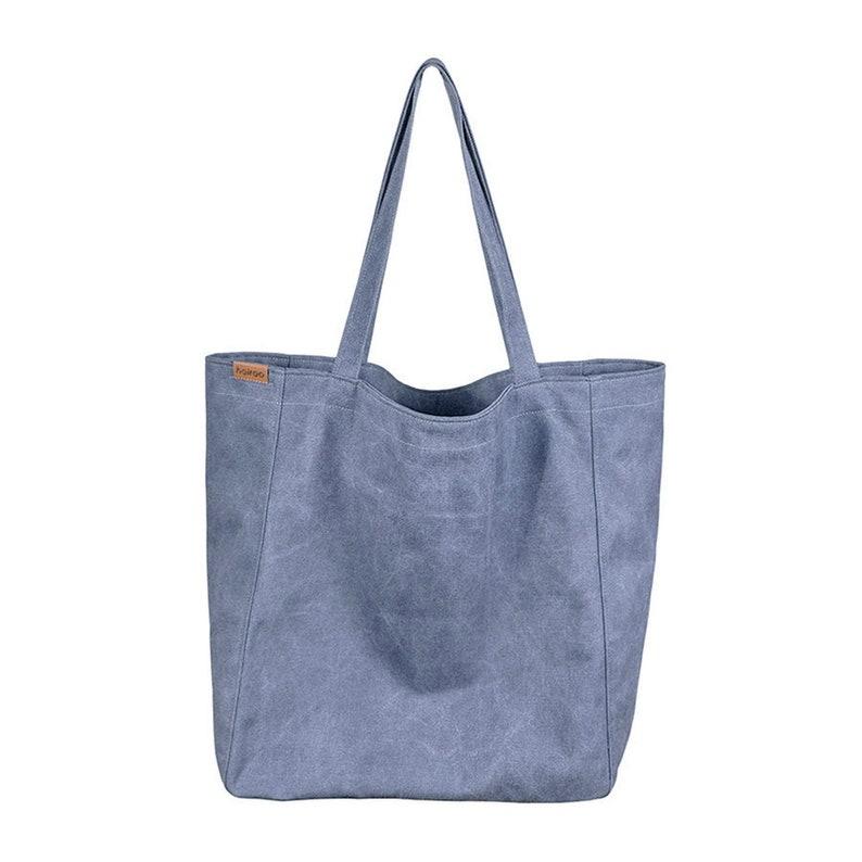 5263391b113f5 Bardzo duża niebieska torba XXL z zamkiem bawełniana torebka | Etsy