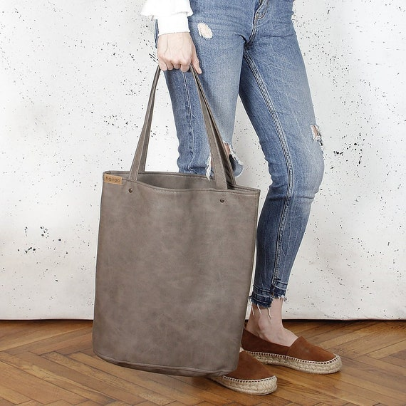 0bf4f8e0a192b Torba Shopper Brown ramię Tote Bag ponadgabarytowych torba na