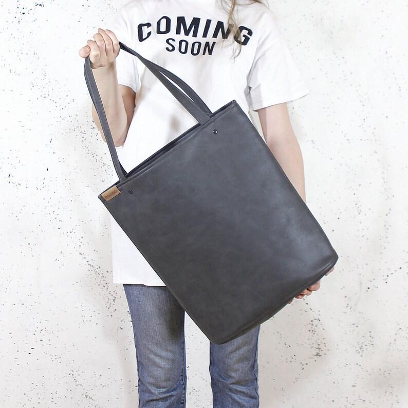 Simple tote bag  shopper bag work bag teacher tote  40th image 0