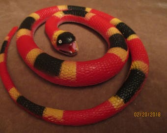 Coral snake rubber snake