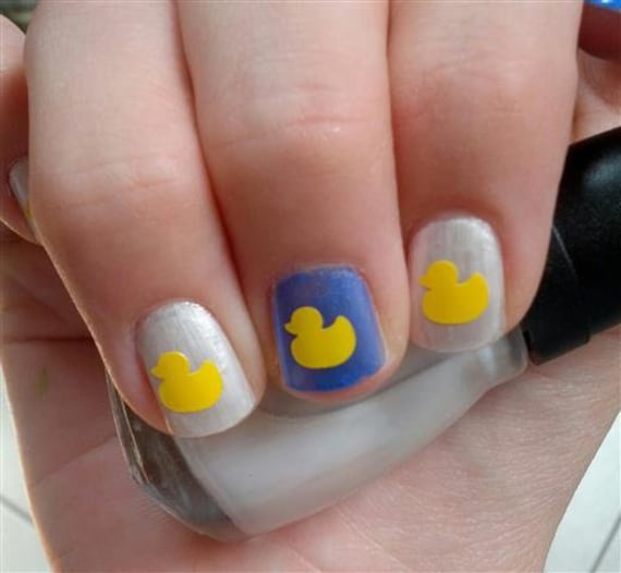 Rubber Duck Nail Art Decal Stickers Etsy
