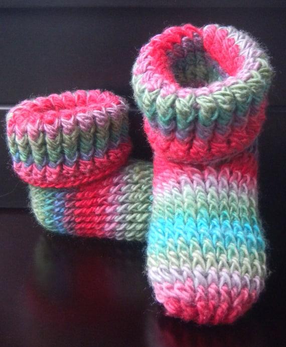 CROCHET PATTERN Knit Look Slipper Boots