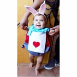 Halloween - White Rabbit costume - Halloween Costume - Alice in Wonderland - Birthday Romper - Boys costume - Girls costume - Mad Hatter