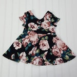 Seconds Peplum top - Knit top for girls - Bohemian toddler - summer clothes Black Floral