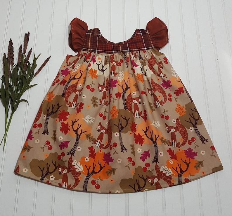 Fall dresses for girls  Flutter sleeve dress  Vintage image 0