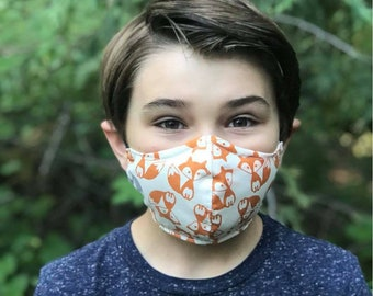 Fabric face mask - Mask for men - Masks for kids - Masks for women - Mask with filter pocket and nose wire - Washable face covering