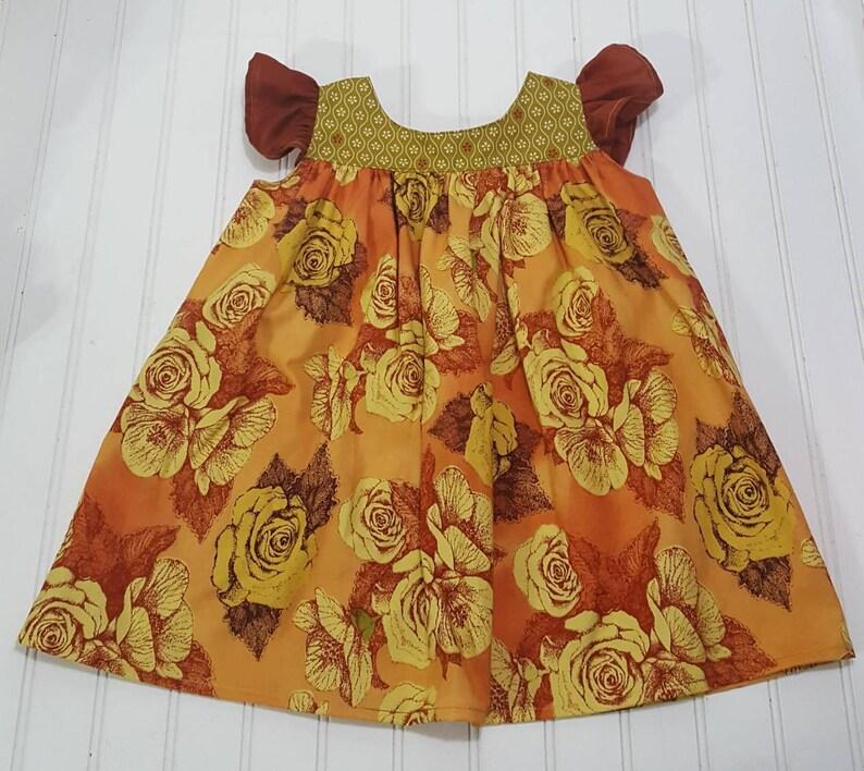 Fall dresses for girls  Children's floral dress  Flutter image 0