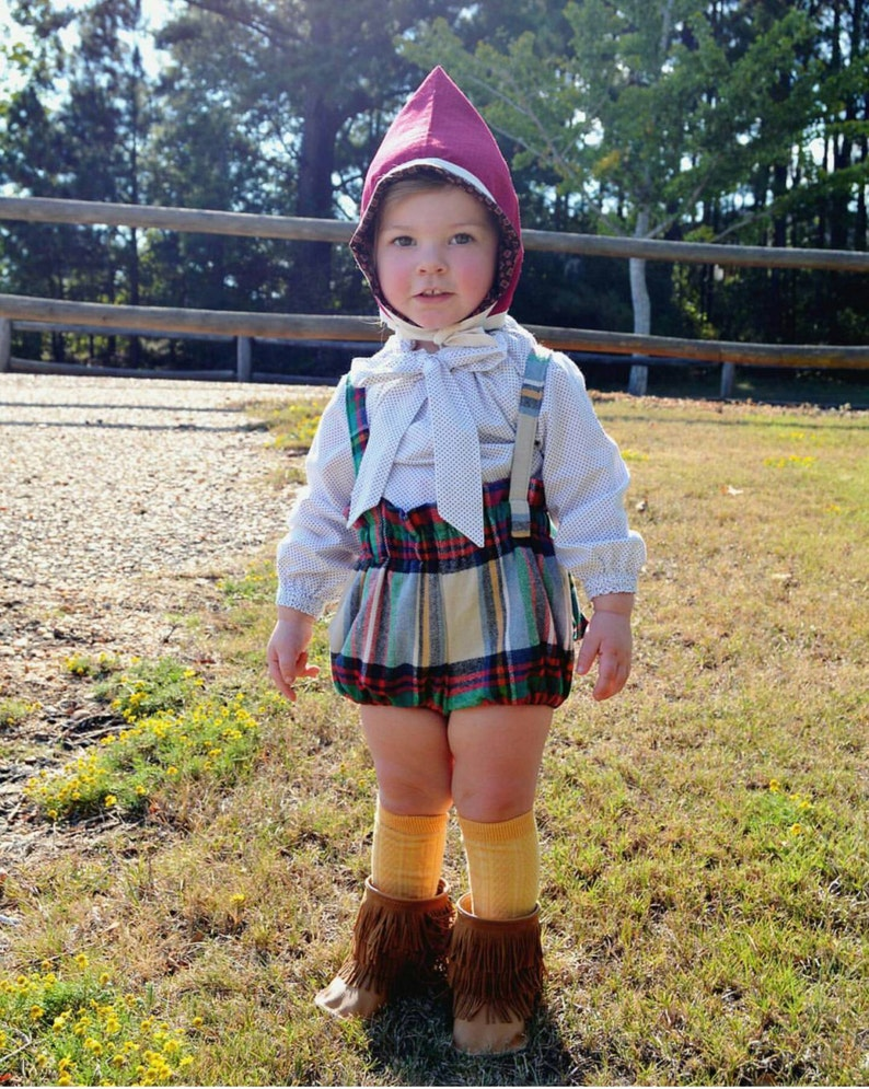 Bloomers with straps  American Plaid  Baby Girl Clothes  image 0